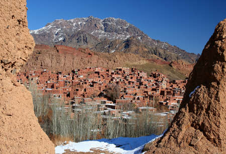 iranian: Mountain village Abyaneh in central part of Iran