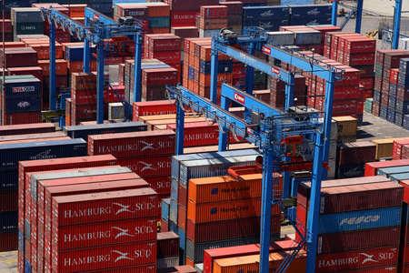 Cargo in the port in Valparaiso, Chile