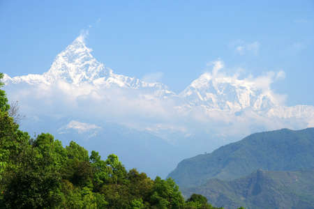 Mount Machhapuchhre, Nepal Stock Photo