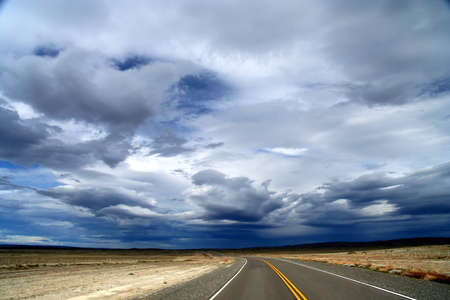 Famous scenic Road 40 ( ruta quareta ) going through southern Patagonia photo