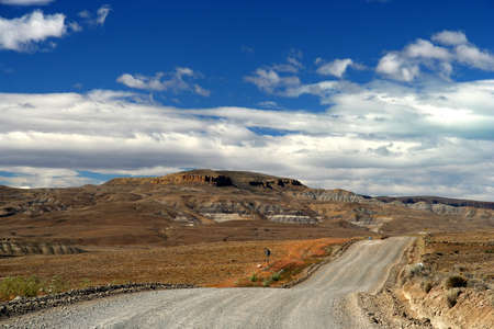 ruta: Famous scenic Road 40 ( ruta quareta ) going through southern Patagonia Stock Photo