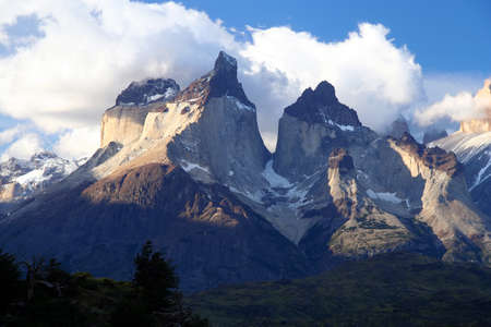 torres del paine: Stunning Cuernos del Paine in southern Chile Stock Photo