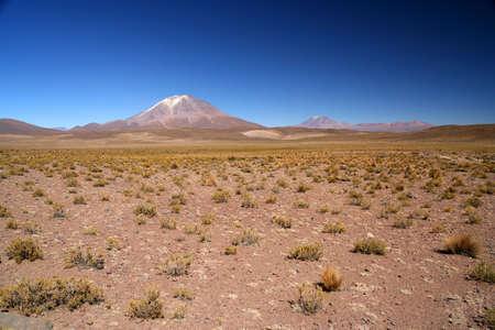 Een van de vele vulkanen in het zuidelijke deel van de Boliviaanse Altiplano