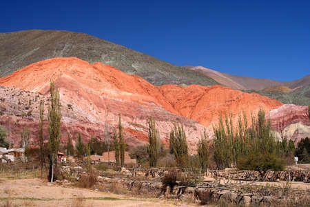 Colourful mountains in Northern Argentina Quebrada de Humahuaca photo