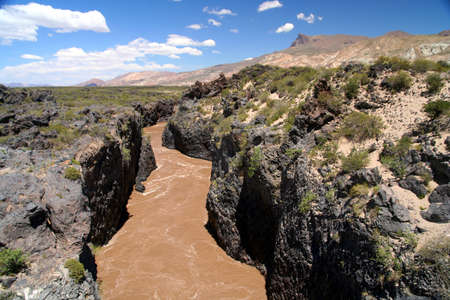 Rio Grande flowing through very narrow canyon in northern Argentina photo