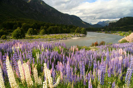 spectacular mountain scenery in Chilean Patagonia photo