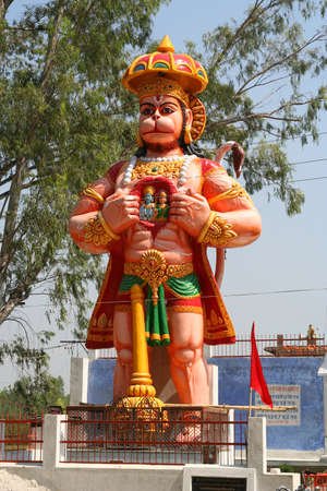 god figure: Sculpture of a hindu Monkey God Hanuman Stock Photo
