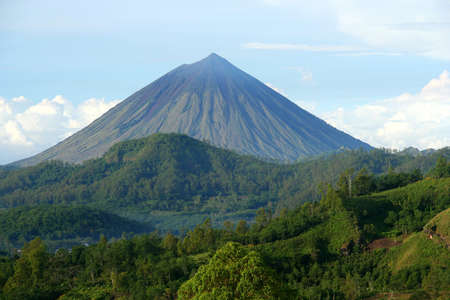 Volcano Mount Inarie on the Indonesian island Flores, Indonesia photo