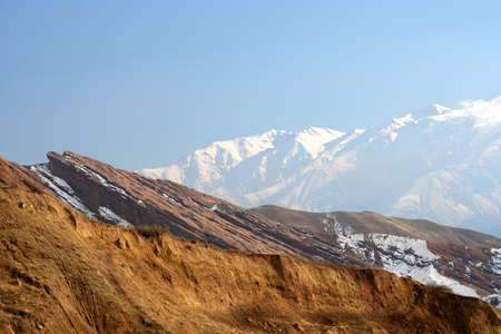 Beautiful Alamut mountains in the northern Iran in winter photo