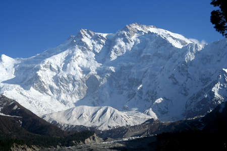 Massive Nanga Parbat mountain in the Karakorum range, Pakistan photo
