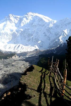 Massive Nanga Parbat mountain in the Karakorum range, Pakistan photo