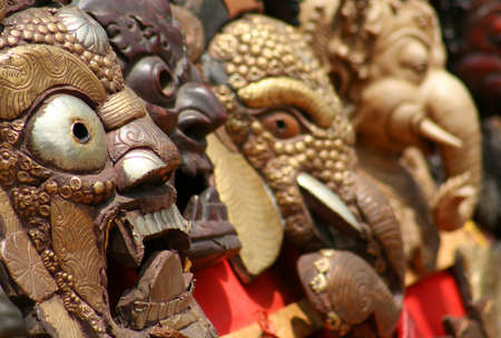 Masks in Kathmandu, Nepal photo