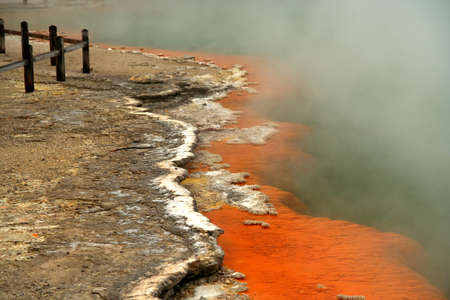 Champagne Pool in the Wai-O-Tapu thermal area, Rotorua, New Zealand  photo
