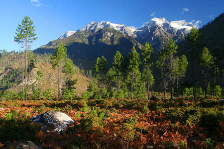 Stunning alpine mountain landscape of Eastern Tibet Stock Photo - 16758518