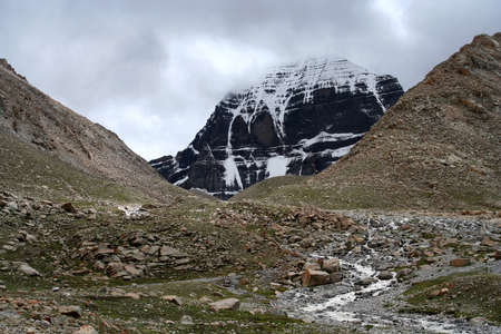 Mount Kailash - holy mountain in the Himalaya, Central Tibet photo