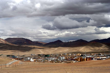 disputed: Chinese city Ali located in the Aksai Chin region - one of the two main disputed border areas between China and India