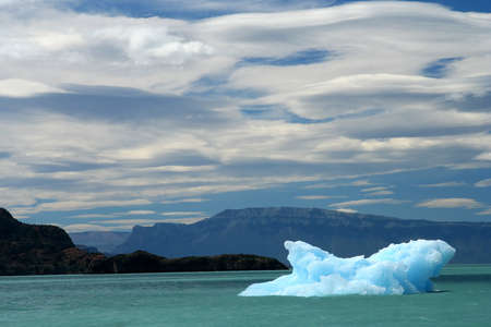 Small iceberg on Lago Higgins in Patagonia between Chile and Argentina photo