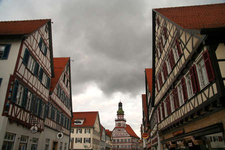 teck: Kirchheim town with Cityhall building in the background, Germany