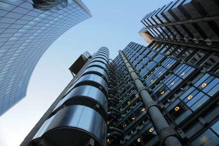 lloyds of london: The Lloyd Building near Aldwych in London financial district , London, England