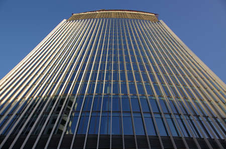 One of many tall business buildings in London city