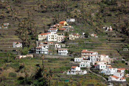 Stunning and beautiful Valle Gran Rey on the island of La Gomera, one of the archipelago of Canary Islands, Spain photo
