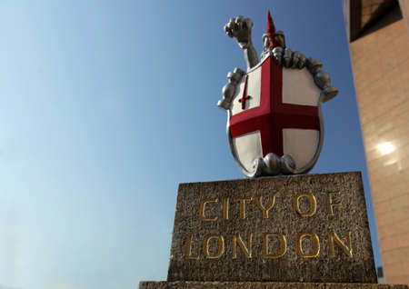 Crest indicating entering the City of London, UK photo