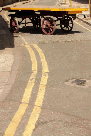 Abandoned old cart on the backstreet in Brixton, London photo
