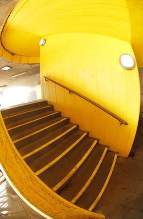 Yellow stairs outside London southbank apartments near Waterloo station Stock Photo - 21580375