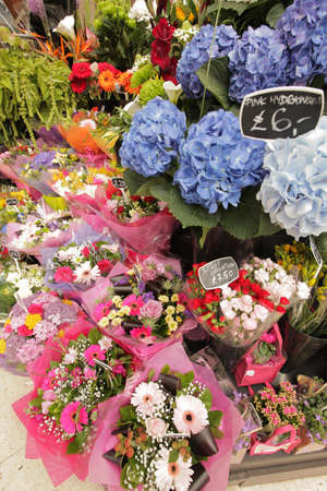 Flower stand at Victoria train station in London, UK Stock Photo - 21658055
