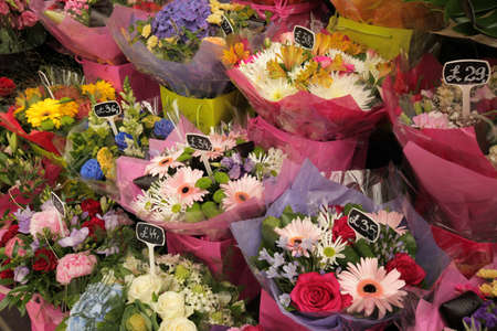 Flower stand at Victoria train station in London, UK Stock Photo - 21658056