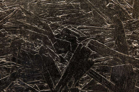 Black old wood texture background on the wall of a building Stock Photo