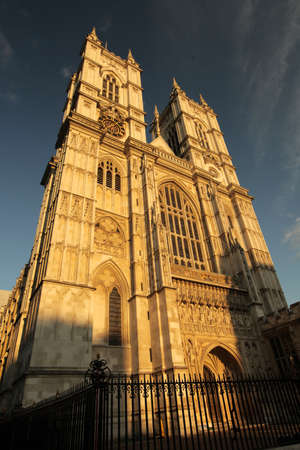 Famous Westminster Abbey cathedral in London, England photo