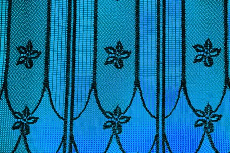 Background of curtain over blue photo
