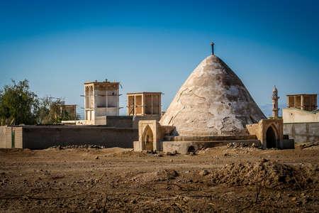 windtower: Abanbar - traditional water storage on the island of Qeshm, Iran Stock Photo