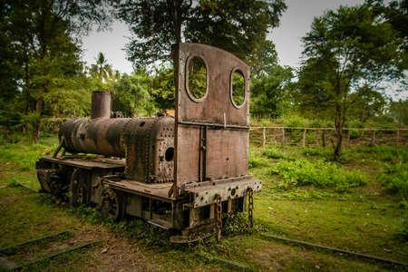 det: The disused Don Det narrow gauge portage railway, Champasak Province, southern Laos