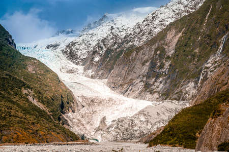 Franz Joseph glacier in South Island, New Zealand photo