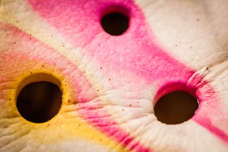 pinkish: Abstract pinkish texture of a plastic flip flop - close up shot Stock Photo