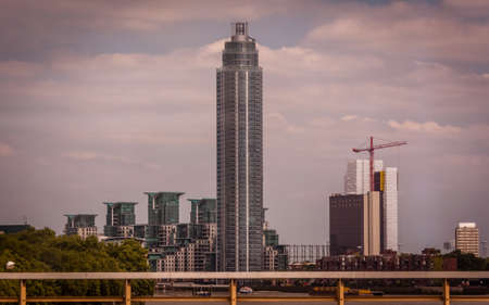 St George Wharf Tower by the river Thames in London