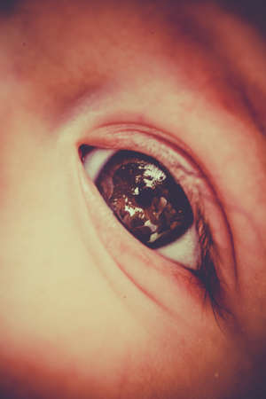 chillout: Close up of an eye of a  baby boy