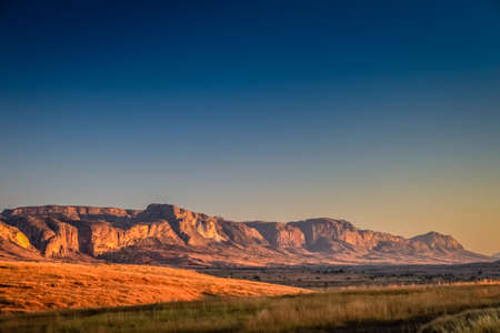 Beautiful sunrise in the Park National Isalo photo