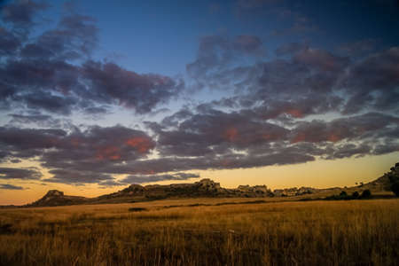 Beautiful sunrise in the Isalo Park National photo