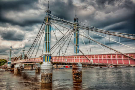 chelsea: Chelsea Bridge over the river Thames, London, england Stock Photo