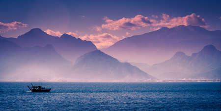 Stunning mountain scenery near Antalya in Turkey photo