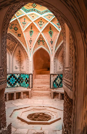 haman: Traditional old bath in one of the old homes in Kashan, Iran