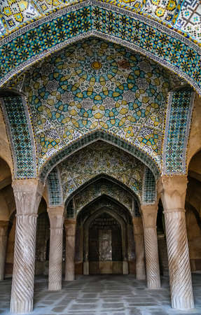 shiraz: Beautiful and impressive Vakil mosque in Shiraz, Iran