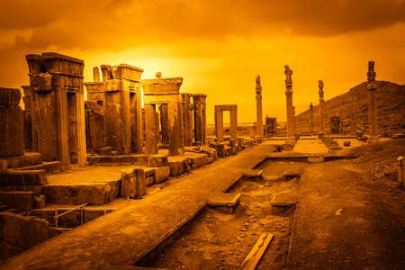 Ruins of the ancient city Persepolis in Iran