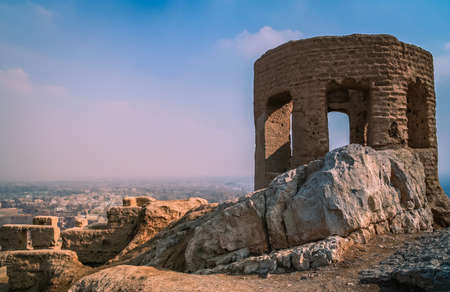 temple tower: Ruins of the Zoroastrian Fire Temple - Tower of Ateshkadeh-ye , Esfahan, Iran
