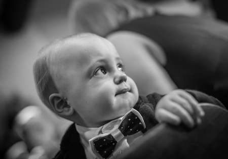 smartly: Portrait of a smartly dressed cute little baby boy during wedding