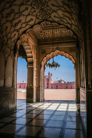 islamic wonderful: Beautiful Interior of a Badshahi mosque in Lahore Pakistan