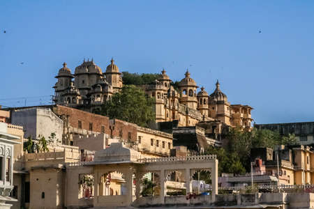 View of the Udaipur Palace Udaipur India